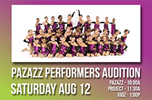 Pazazz Auditions 2017 - JUNE